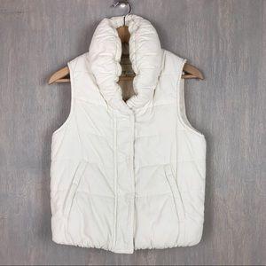 Anthropologie Pilcro corduroy puffer vest ivory S